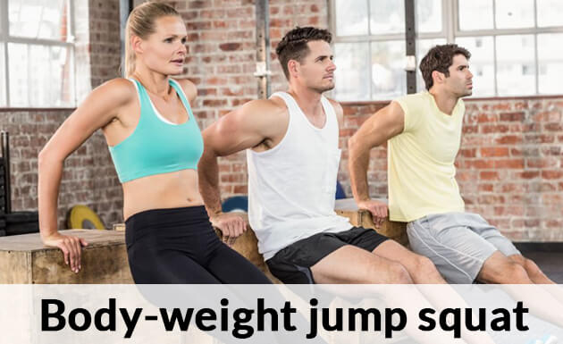 Body-weight jump squat