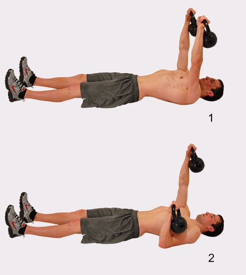 Kettle Bell Floor Press