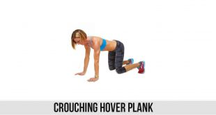 Crouching Hover Plank Exercise