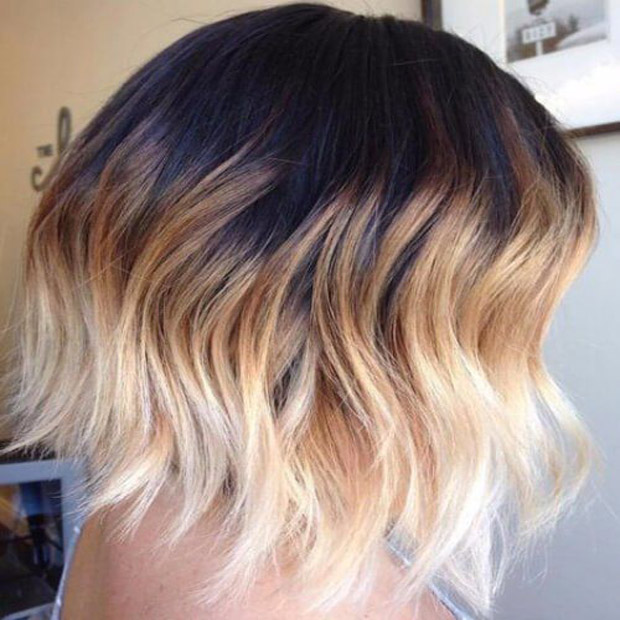 Bob with Reverse Ombre Color