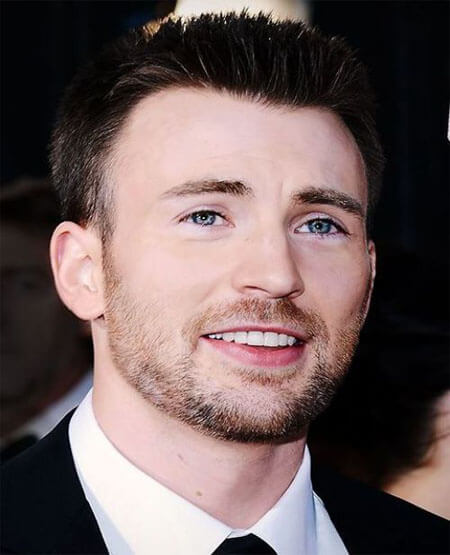 Chris Evans Crew Cut Hairstyle