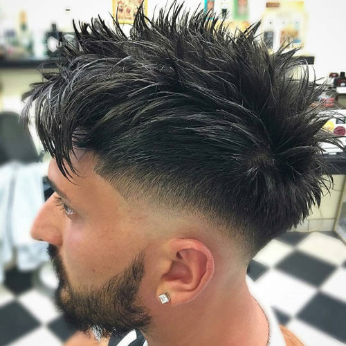 Cool Low Taper Fade With Messy Spiky Hair