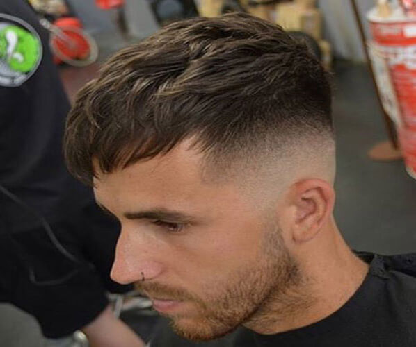 High Skin Fade with Fringe