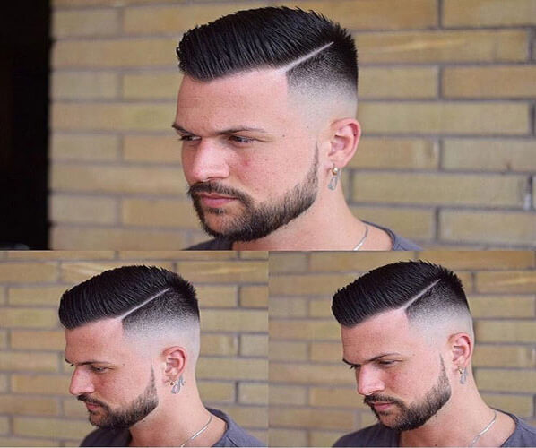 High Skin Fade with Spiky Come Over