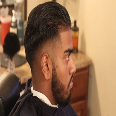 High Taper Fade with Long Slicked Back Hair World Wide