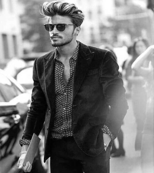 Classy Medium Long Hairstyle For Men