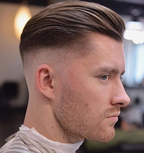 high fade with mid length top