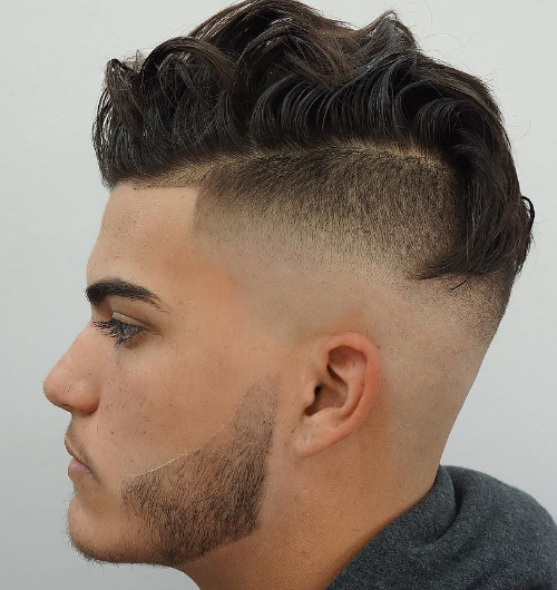 undercut with twist back top