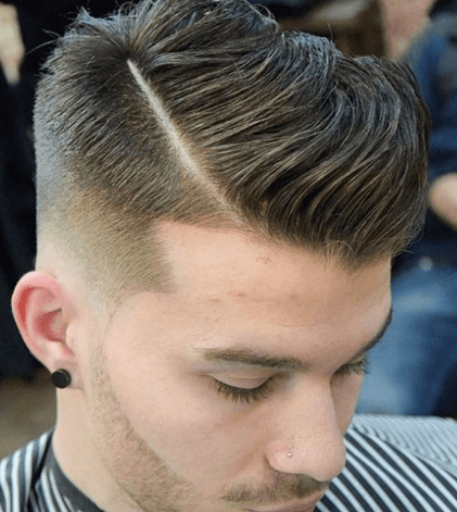 Comb Over Side Part + Drop fade
