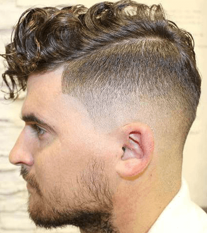 Wavy Comb Over + Low Fade + Part