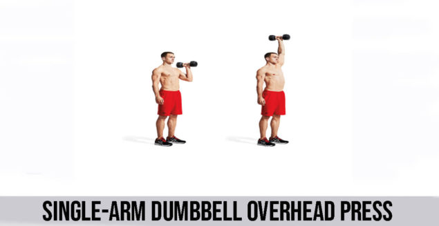 SINGLE-ARM DUMBBELL OVERHEAD PRESS exercise