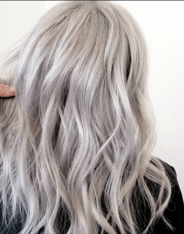 Long Silver Ombre hairstyle