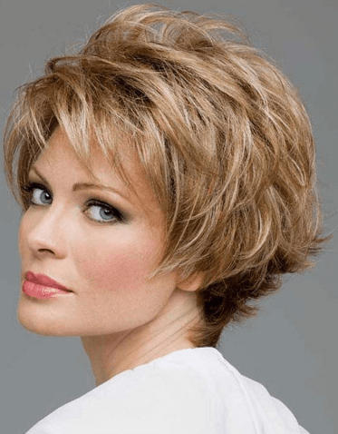 Short Heavy Razor Bob hairstyle