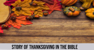 story of thanks giving in the bible