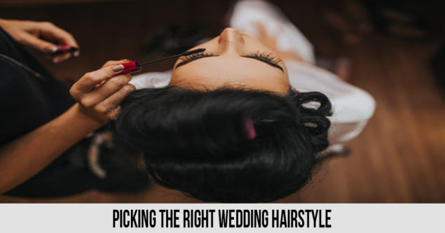 Picking the right wedding hairstyle